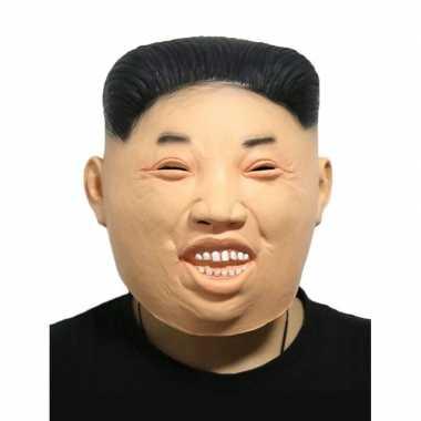 Kim jong un fun verkleed masker volwassenen carnavalskleding roosenda