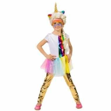Kinder verkleed legging goud carnavalskleding roosendaal