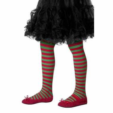 Kinderpanty rood groen gestreept carnavalskleding roosendaal