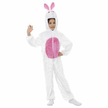 Konijn/haas onesie kinderen wit/roze carnavalskleding roosendaal