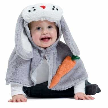 Konijn/haas verkleed cape baby/peuters carnavalskleding roosendaal