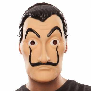 La casa papel overvaller masker salvador dali carnavalskleding roosen