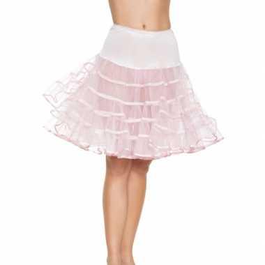 Roze Carnavalskleding Dames.Lange Licht Roze Petticoat Dames Carnavalskleding Roosendaal