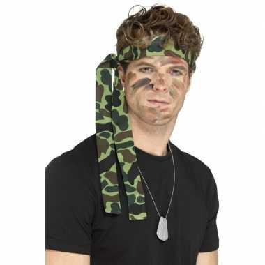 Leger accessoires verkleedset ketting hoofdband carnavalskleding roos
