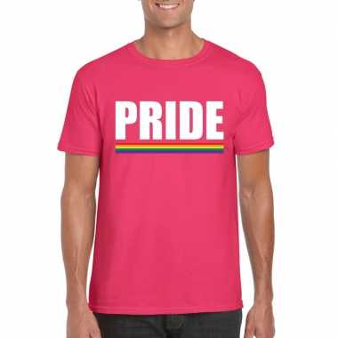 Lgbt shirt roze pride heren carnavalskleding roosendaal