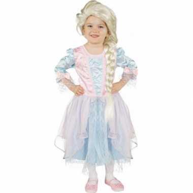 Lichtblauw roze prinsessenjurk carnavalskleding roosendaal