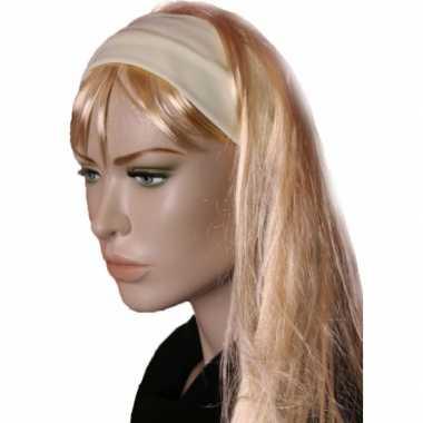 Carnavalskleding lichtgele stretch haarband roosendaal