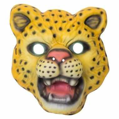 Luipaard/panter verkleed dierenmasker kinderen carnavalskleding roose