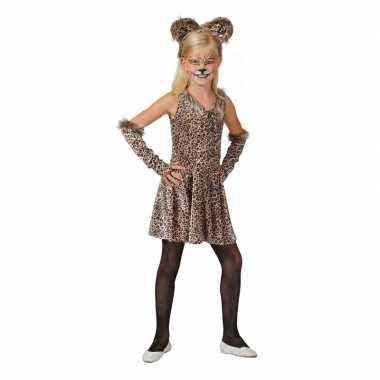 Luipaard verkleed jurkje accessoires meisjes carnavalskleding roosend