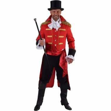 Luxe circus jas rood heren carnavalskleding Roosendaal