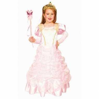 Luxe lichtroze prinsessenjurk carnavalskleding roosendaal