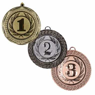 Medailles set goud , zilver brons carnavalskleding roosendaal