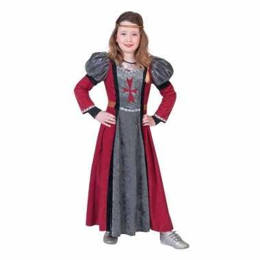 Middeleeuwse jonkvrouw verkleed jurk meisjes carnavalskleding roosend