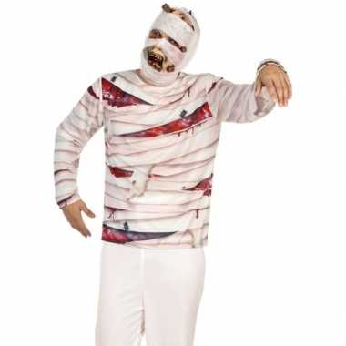 Carnavalskleding mummie verkleed shirt heren roosendaal