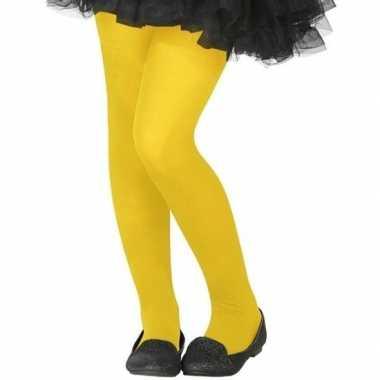 Neon gele verkleed panty kinderen carnavalskleding roosendaal