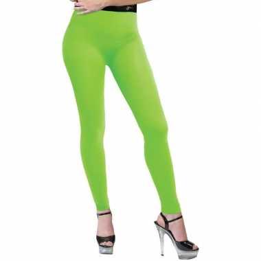 Neon groene legging dames carnavalskleding roosendaal