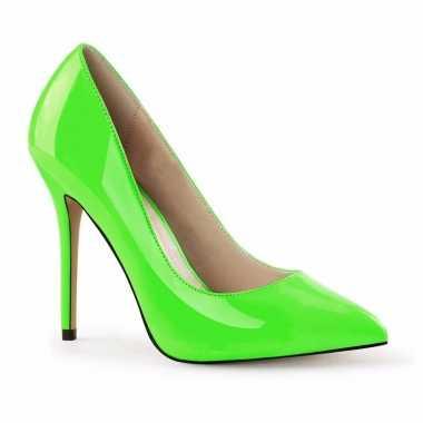 Neon groene stiletto pumps glow the dark dames carnavalskleding roose