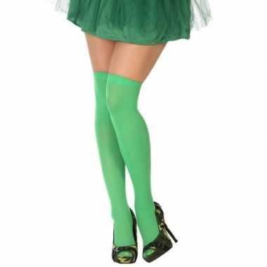 Neon groene verkleed kousen dames carnavalskleding roosendaal