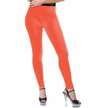 Neon oranje legging dames carnavalskleding roosendaal
