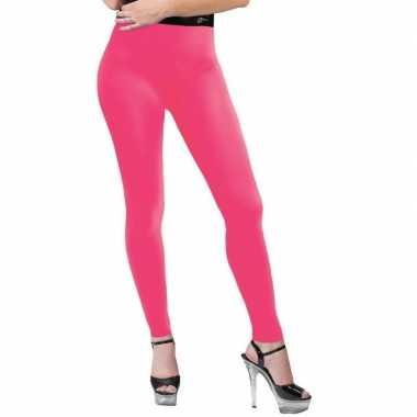 Neon roze legging dames carnavalskleding roosendaal