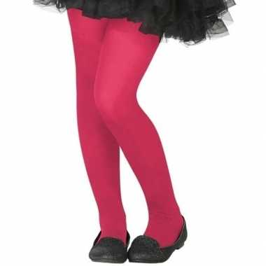 Neon roze verkleed panty kinderen carnavalskleding roosendaal