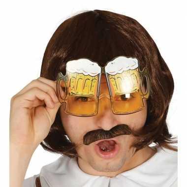 Oktoberfest bier pullen verkleed bril volwassenen carnavalskleding ro