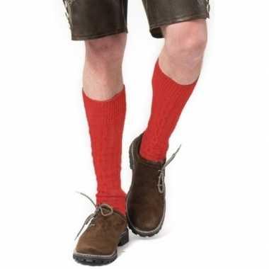 Oktoberfest oktoberfest tiroler verkleed kousen rood volwassenen carn