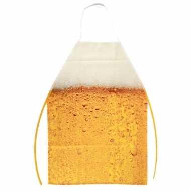 Oktoberfest schort bier patroon one size carnavalskleding roosendaal