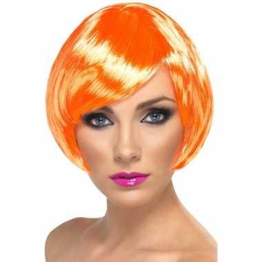 Carnavalskleding oranje damespruik kort haar roosendaal