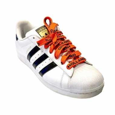Oranje holland supporter schoenveters carnavalskleding roosendaal