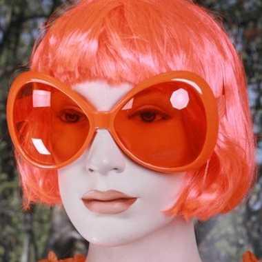 Carnavalskleding oranje mega zonnebril roosendaal
