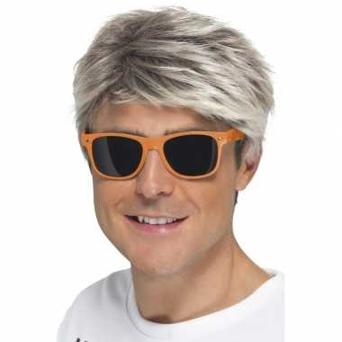 Oranje neon feestbril volwassenen carnavalskleding roosendaal