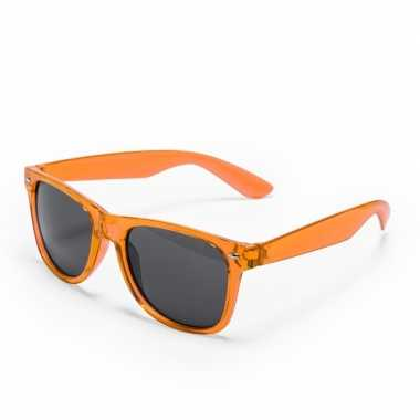 Oranje verkleed accessoire zonnebril volwassenen carnavalskleding roo