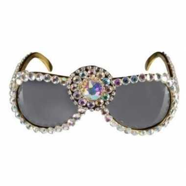 Over the top zonnebril bling bling dames carnavalskleding roosendaal