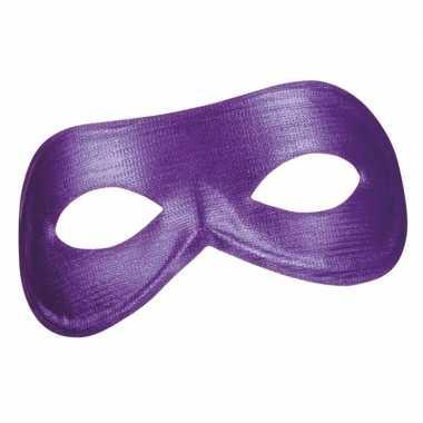 Paars metallic oogmasker dames carnavalskleding roosendaal