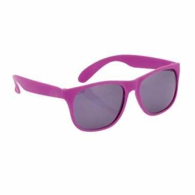 Paarse zonnebril carnavalskleding roosendaal