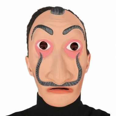 Papel masker verkleed accessoire volwassenen carnavalskleding roosend
