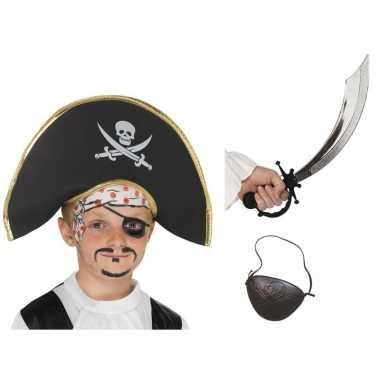 Piraat accessoires verkleedset kinderen carnavalskleding roosendaal