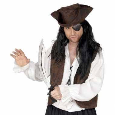 Piraat accessoires verkleedset ooglapje zwaard carnavalskleding roose