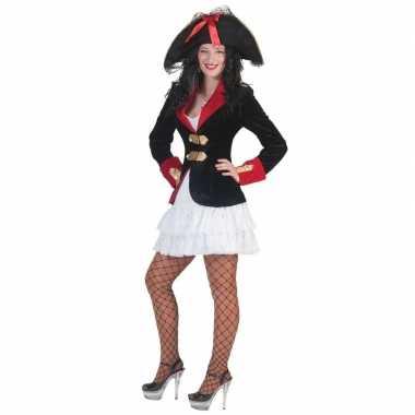 Piraten jurkje colbert dames carnavalskleding roosendaal