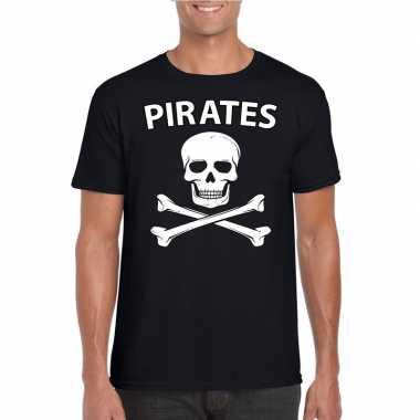 Piraten verkleed shirt zwart heren carnavalskleding roosendaal
