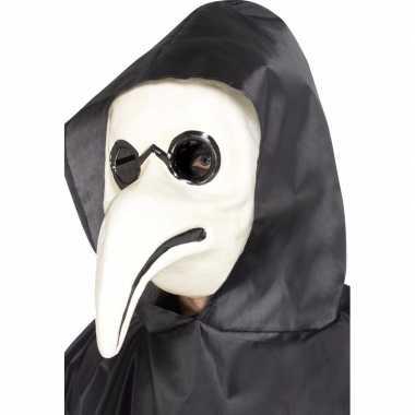 Plaag dokter masker wit volwassenen carnavalskleding roosendaal