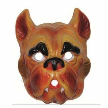 Carnavalskleding plastic hond masker volwassenen roosendaal