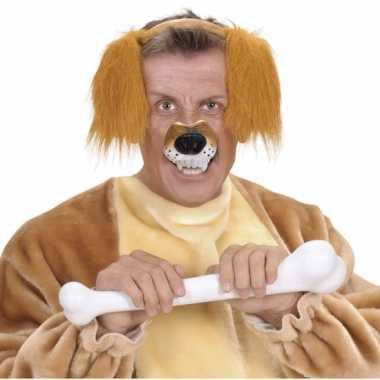 Carnavalskleding plastic honden neus roosendaal