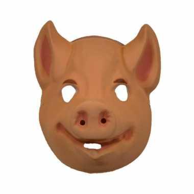Carnavalskleding plastic varkens masker roosendaal