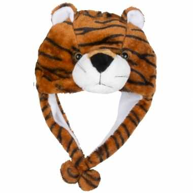 Carnavalskleding pluche tijger muts kinderen roosendaal