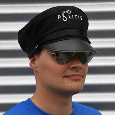 Politie accessoires verkleedset pet bril carnavalskleding roosendaal