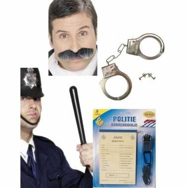 Politie accessoires verkleedset volwassenen carnavalskleding roosenda