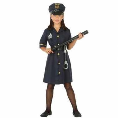 Politie agente verkleed jurk/jurkje meisjes carnavalskleding roosenda