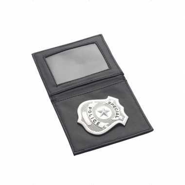 Politie badge portefeuille carnavalskleding Roosendaal
